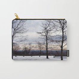 Bare Snowy Trees in South Mountain Reservation Carry-All Pouch