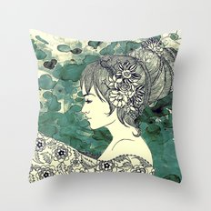 hive of hair Throw Pillow
