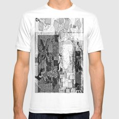 First Step White Mens Fitted Tee SMALL
