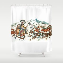 Herding Horses Shower Curtain