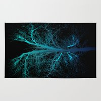lungs Area & Throw Rugs featuring Aqua Lungs by MUSENYO