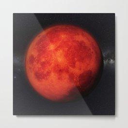 Super bloody moon Metal Print