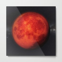 Super bloody moon Metal Print