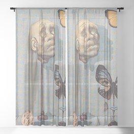 THE LIMIT - SALVADOR DALI Sheer Curtain