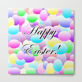 Happy Easter Light Metal Print