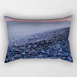 """""""Shiny rocks"""" At pink sunset. Spain, Gibraltar and Africa in one photo. Rectangular Pillow"""
