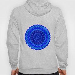 Summer Mandala Full Bloom Celebration in Vibrant Blue Hoody