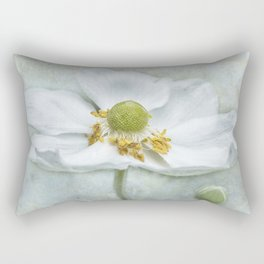 Anemone with Textured Background Rectangular Pillow