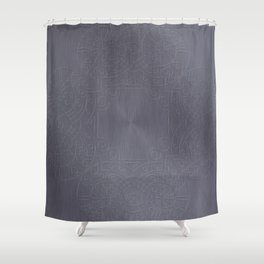 Cool Brushed Metal with a Stamped Design Shower Curtain