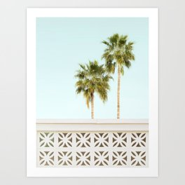 Palm Springs Breeze Block I Art Print