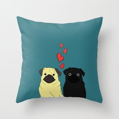 Pugs In Love Throw Pillow