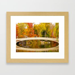 Bow Bridge at Central Park Framed Art Print