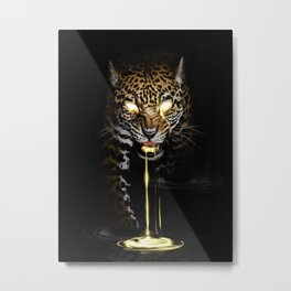 Dripping with Gold Metal Print