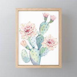 The Prettiest Cactus Framed Mini Art Print