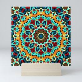 Geometric ornament Mini Art Print
