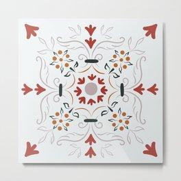 Tile Art I Metal Print