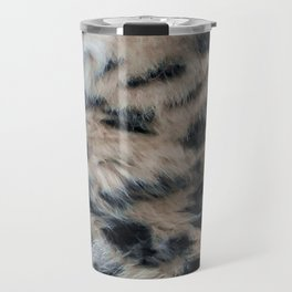 Snow Leopard Fur Abstract Travel Mug