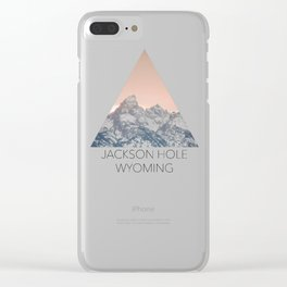 That Alpine Glow Clear iPhone Case