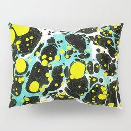 Space Blue Marbling Pillow Sham