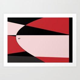 Modern Abstract Red #buyart #decor #abstract #design #kirovair Art Print
