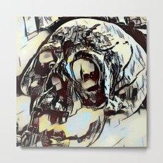 Metal Paper Skull Metal Print