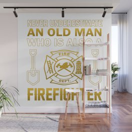 Old Man - A Firefighter Wall Mural