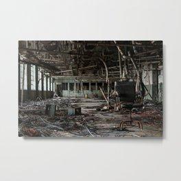 Millennium Mills, abandoned flour mill Metal Print