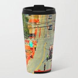 Orange Alert - There Goes The Neighborhood Travel Mug