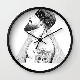 Beard Man - Thug Life Wall Clock