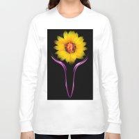 sunflower Long Sleeve T-shirts featuring Sunflower by Walter Zettl