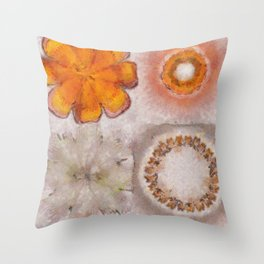 Hemiglobin Weave Flowers  ID:16165-071146-77360 Throw Pillow