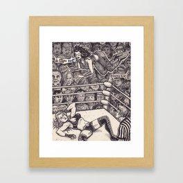 Wrestling Framed Art Print
