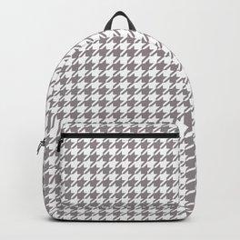 Light Gray & White Houndstooth Backpack