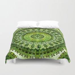 Vintage Lime Mandala Duvet Cover
