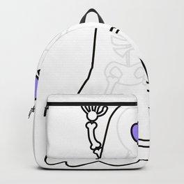 Skeleton as Ghost Halloween Costume Backpack