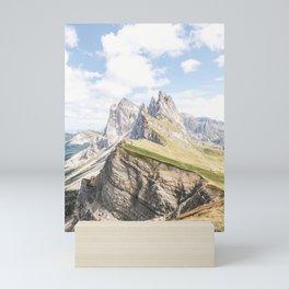 Dolomites XXI [ South Tyrol, Italy ] Amazing mount Seceda⎪Colorful travel photography Poster Mini Art Print