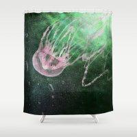 jellyfish Shower Curtains featuring Jellyfish by Katie Bumdesu Whittle