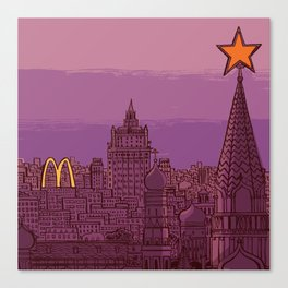 Fast Food Moscow (January 31, 1990) Canvas Print