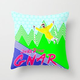 Shred the GNARski 03 Throw Pillow