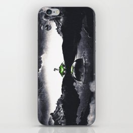 The Landing A Zebes Surrealism iPhone Skin