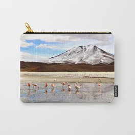Pink Flamingos & a Peak in the Andes Carry-All Pouch