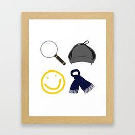 Sherlock Items Framed Art Print