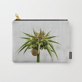 Thistle bud and snail Carry-All Pouch
