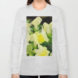 Yellow Snapdragons Flower Abstract Long Sleeve T-shirt