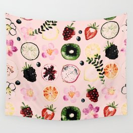 Fruit festival pattern Wall Tapestry