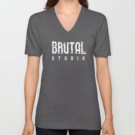 Brutal Studio Red Logo Unisex V-Neck