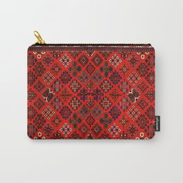 -A30- Red Epic Traditional Moroccan Carpet Design. Carry-All Pouch