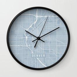 Denver Map, USA - Slate Wall Clock