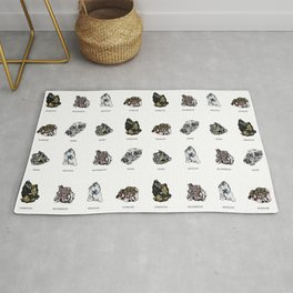 Rock collection with names Rug