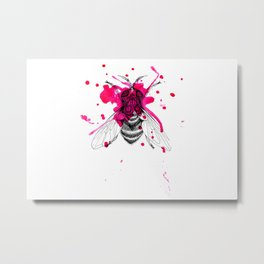 Squashed fly Metal Print